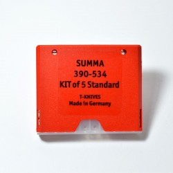 """KIT 5 CUCHILLAS SUMMA """"T"""" STANDARD 390-534"""