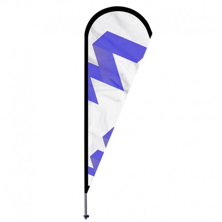 MÁSTIL BEACH FLAG 100% FIBRA